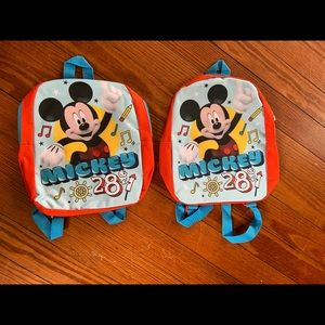 2 Mickey Mouse Toddler Size Back Packs
